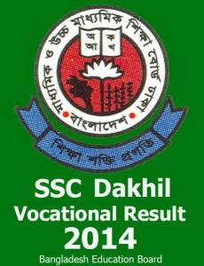 Result of SSC Vocational And Dakhil Vocational 2014