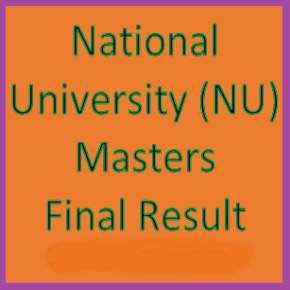 National University (NU) Masters Part 1 Result 2010-11