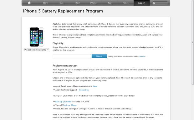 iPhone 5 Battery Replacement Program Announced By Apple