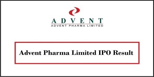 Advent Pharma IPO Lottery Result 2018